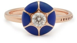 Selim Mouzannar Sea Flowers 18kt Rose-gold Diamond Ring - Blue