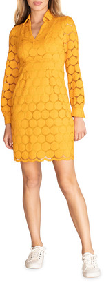 Trina Turk Overlook Dotted Long-Sleeve Dress