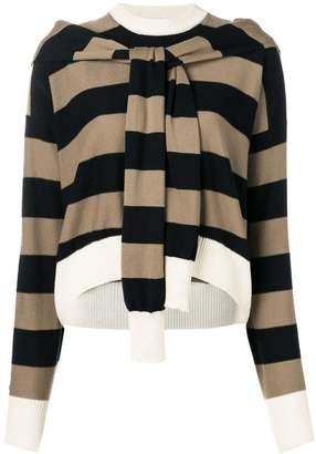 Sonia Rykiel cropped striped jumper