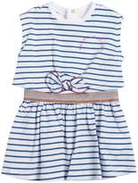 Little Marc Jacobs Striped Cotton Jersey Dress
