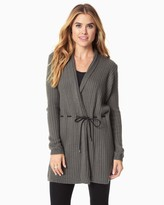 Charming charlie Ribbed And Belted Cardigan