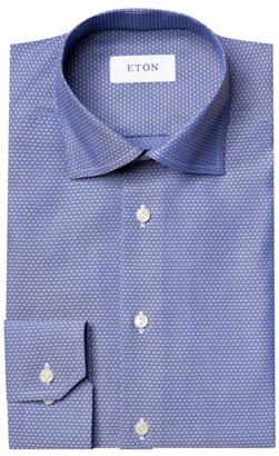 Eton Contemporary-Fit Micro-Print Dress Shirt
