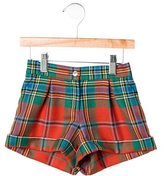 Oscar de la Renta Girls' Plaid Wool Shorts