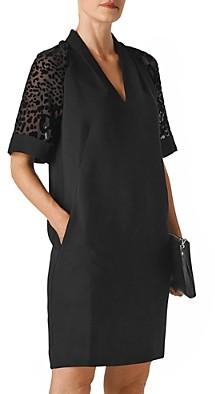 Whistles Lina Animal-Sleeve Dress