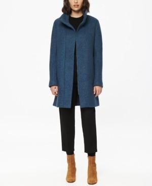 Andrew Marc Verda Stand-Collar Boucle Coat
