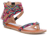 Steve Madden Girl's T-Crown Tasseled Rhinestone Embellished Sandal