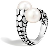 John Hardy Dot Sterling Silver Toi Moi Ring with Cultured Freshwater Pearls