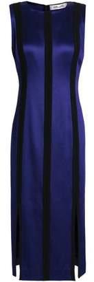 Diane von Furstenberg Two-tone Satin Midi Dress