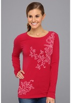 Life is Good Topnotch Open Neck L/S (Cherry Red) - Apparel