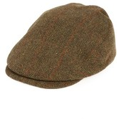 Barbour Men's Gamefair Tweed Wool Driving Cap - Green