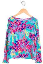 Lilly Pulitzer Girls' Floral Long Sleeve Top