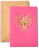 Gartner Studios Stitched Heart Of Gold Thank You Cards - Set of 8 - Gold