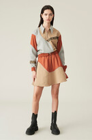Thumbnail for your product : Ganni Isoli Patchwork Mini Skirt