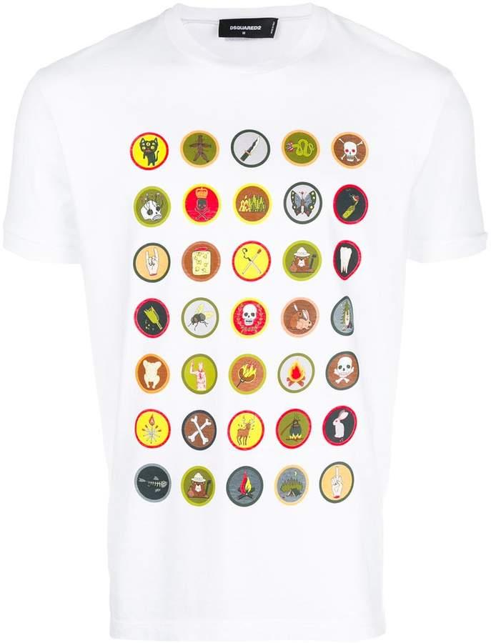 DSQUARED2 badge print T-shirt