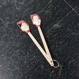 Crate & Barrel Snowman Mini Spatulas, Set of 2