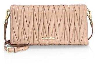 Miu Miu Mini Matelasse Leather Wristlet