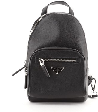 Prada Convertible Sling Backpack Saffiano Leather Mini