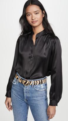 L'Agence Bianca Band Collar Blouse