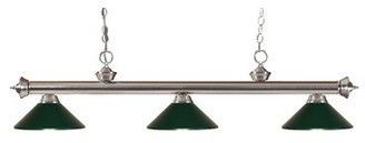 Red Barrel Studioâ® Brynlee 3-Light Pool Table Lights Linear Pendant Red Barrel StudioA Finish: Brushed Nickel, Shade Color: Brushed Nickel