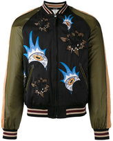 Coach patches bomber jacket - men - Cotton/Polyamide/Viscose - 48