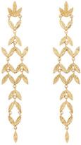 Gorjana Anthea Dangling Stacked Leaf Stud Earrings