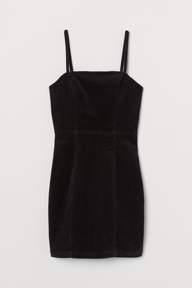 H&M Fitted Cotton Dress - Black