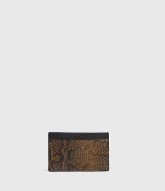 AllSaints Anabel Leather Snake Cardholder