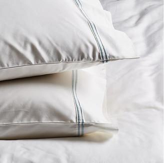 Pom Pom at Home Set of 2 Sateen Pillowcases - White/Ocean King