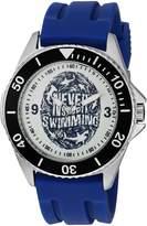 EWatchFactory Men's 'Shark Week' Quartz Stainless Steel and Rubber Sport Watch, Color:Blue (Model: WDC000077)