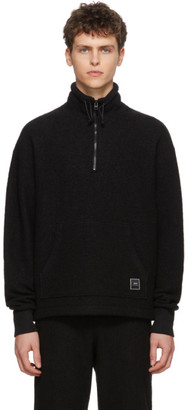 Ami Alexandre Mattiussi Black Wool Half-Zip Sweater