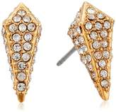 Rebecca Minkoff Pave Spike Gold Stud Earrings