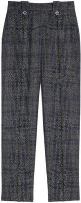 Sandro Check Slim Fit Trousers