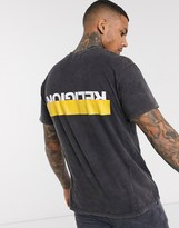 Religion t-shirt with back logo in washed black