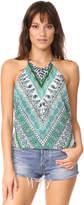 Ramy Brook Capri Herringbone Printed Pixie Blouse