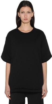 MM6 MAISON MARGIELA Padded Oversized Cotton & Satin T-shirt