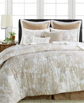 Sunham Everett 8-Pc. Cotton/Linen Queen Comforter Set