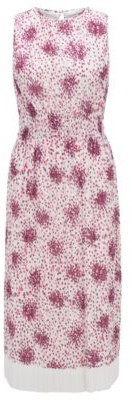 HUGO BOSS Plisse Jersey Dress With Multi Colored Print - Patterned