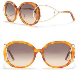 Chloé 58mm Oval Sunglasses