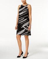 Alfani Pleat-Neck A-Line Dress, Created for Macy's