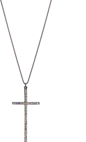 Carole Crystal & Stainless Steel Cross Pendant Necklace