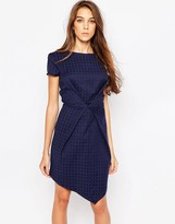 Liquorish Envelope Dress in Jacquard