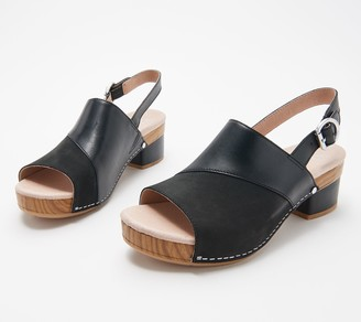 Dansko Leather Slingback Clogs - Madalyn