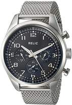 relic watches for men shopstyle relic men s collin quartz stainless steel casual watch color silver toned