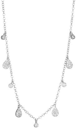 Meira T 14K White Gold Diamond Charm Necklace