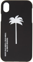 Palm Angels Black and White Palm Tree iPhone XR Case