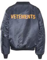 Vetements X Alpha Industries reversible jacket