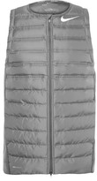 Nike Areoloft Quilted Shell And Stretch-knit Golf Vest - Gray