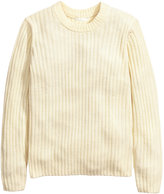 H&M Rib-knit Sweater - Natural white - Ladies