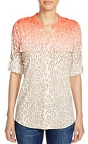 Calvin Klein Women's Printed Roll Sleeve