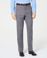Vince Camuto Men's Slim-Fit Stretch Wrinkle-Resistant Gray Textured Solid Suit Pants